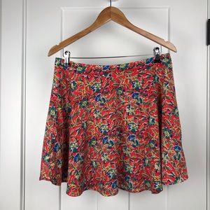 LUSH large vibrant floral flare skirt